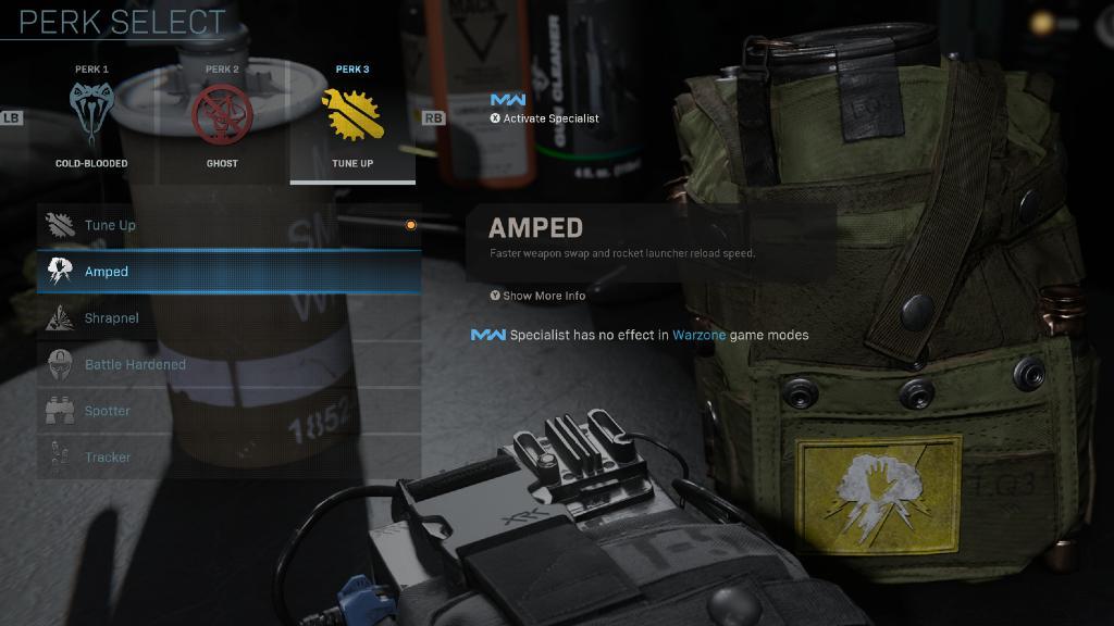 Call of Duty Warzone sarı perk