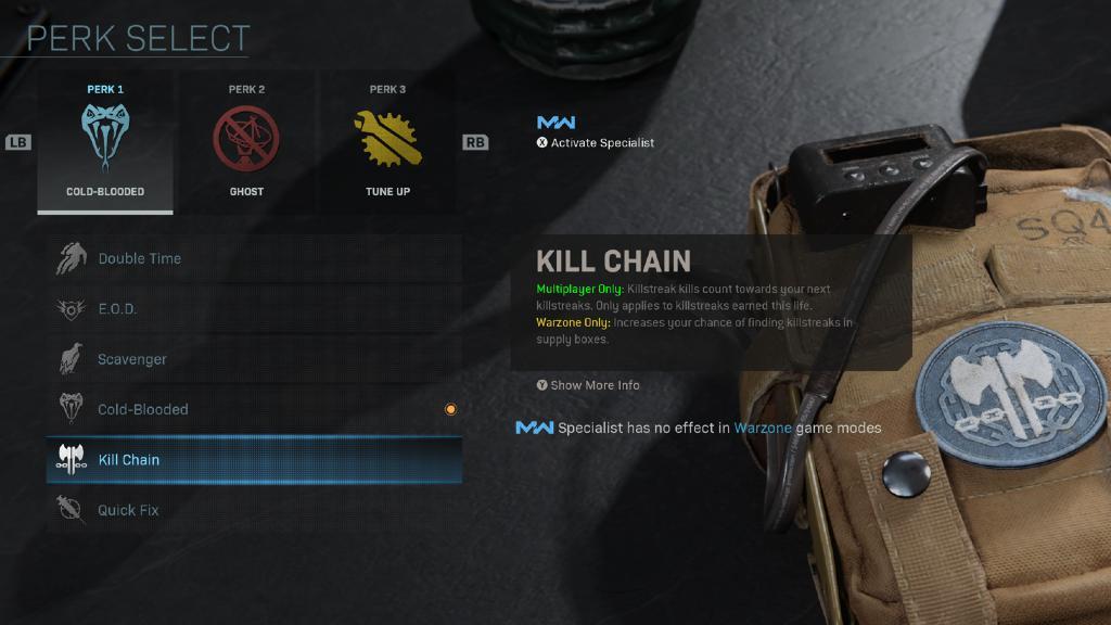 Call of Duty Warzone mavi perk