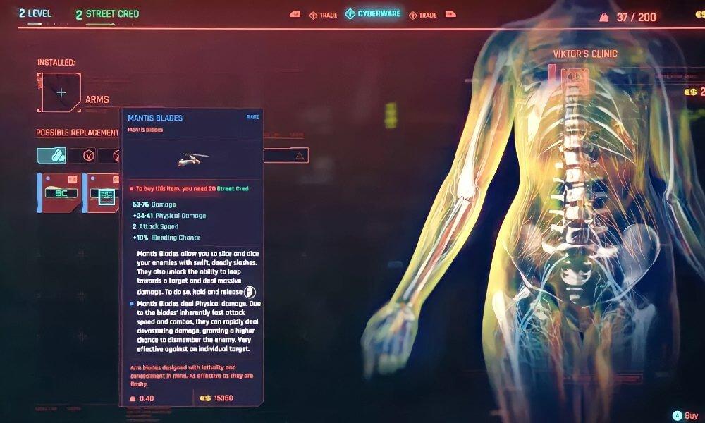 Cyberpunk 2077 Mantis Bıçakları En İyi Nasıl Kullanılır